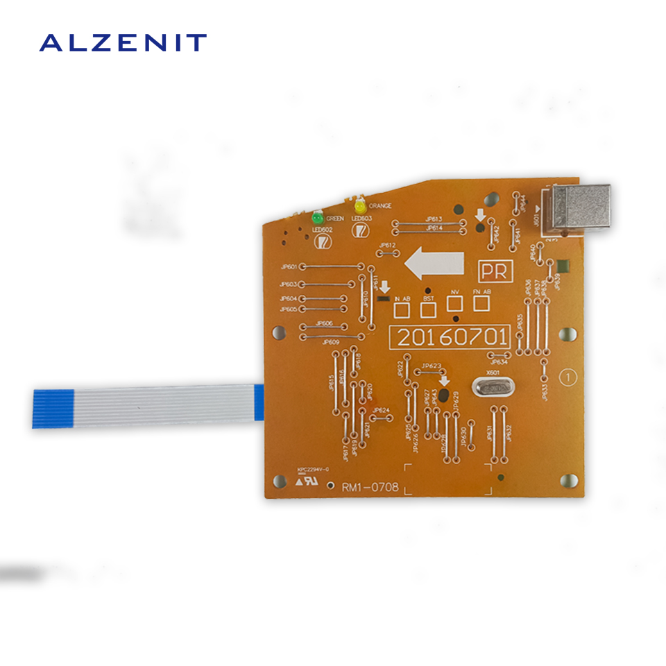 ALZENIT For HP P1005 P1007 1005 1007 Original Used Formatter Board RM1-4607 Printer Parts On Sale brand new printer mother board for hp 1007 main board hot sale in china