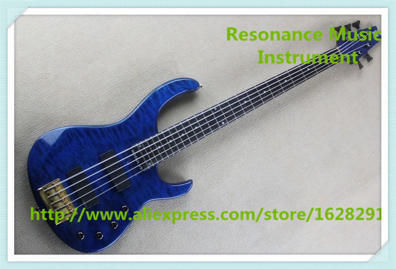 Chinese Modulus Bass Quantum 5 String Electric Bass Guitar With Blue Quilted Finish For Sale купить в Москве 2019