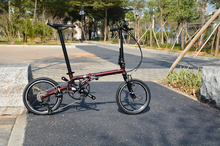 Fnhon CR-MO Steel Folding Bike 16 Minivelo Mini velo Bike Urban Commuter Bicycle V Brake 9 Speed