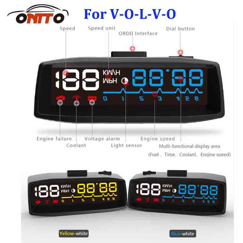 Auto HUD Lighting Car HUD head up displays OBD2 Euro OBD Outlet for Volvo XC90 XC70 XC60 V40 V50 V60 V70 V90 S40 S50 S60 S70 y 150 150mm radial mount 0 1 25mpa air compressor pressure gauge dial diam pneumatic