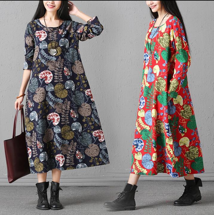 Dámské letní šaty 2018 elegantní oblečení vintage bohemia šaty ženské volné plné šaty