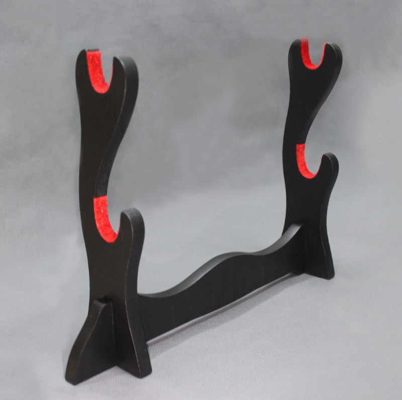 Red Padded Protect Katana Japanese Samurai Sword Stand Hold Rack Display 4 Layer