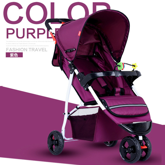 2016 Hot venta de coche de niño plegable de tres ruedas cesta coche de bebé alta visión saco de dormir cochecito para bebé envío gratis