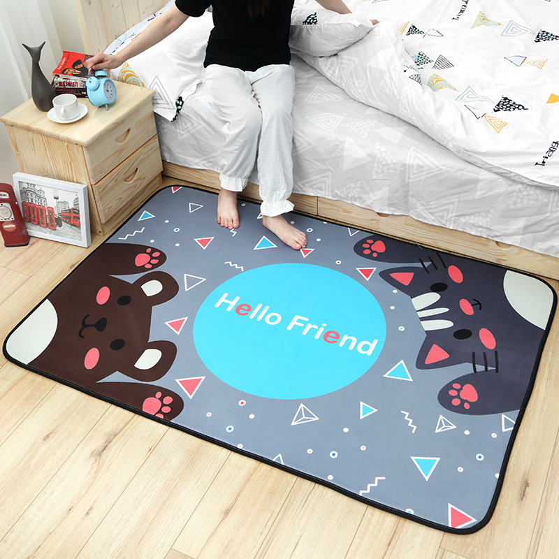 Infant Shining Baby Rug Play Mat Cartoon Baby Crawling Pad 100*150cm Non-slip Children's Mat Game Mat Machine Washable Carpet bookcase super soft non slip bath door mat machine washable quickly drying
