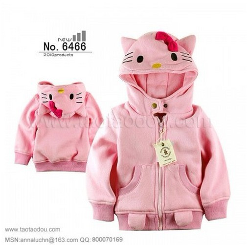 e52067596 hello kitty winter coat hooded kids clothes jackets for girls ...