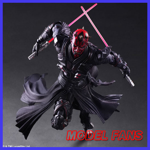 MODEL FANS Star Wars Action Figure Toys Play Arts Kai Darth Maul Collection Model Anime Star Wars Darth Maul Playarts 28cm playarts kai star wars darth maul model pvc action figure toy classic collection for kids gift