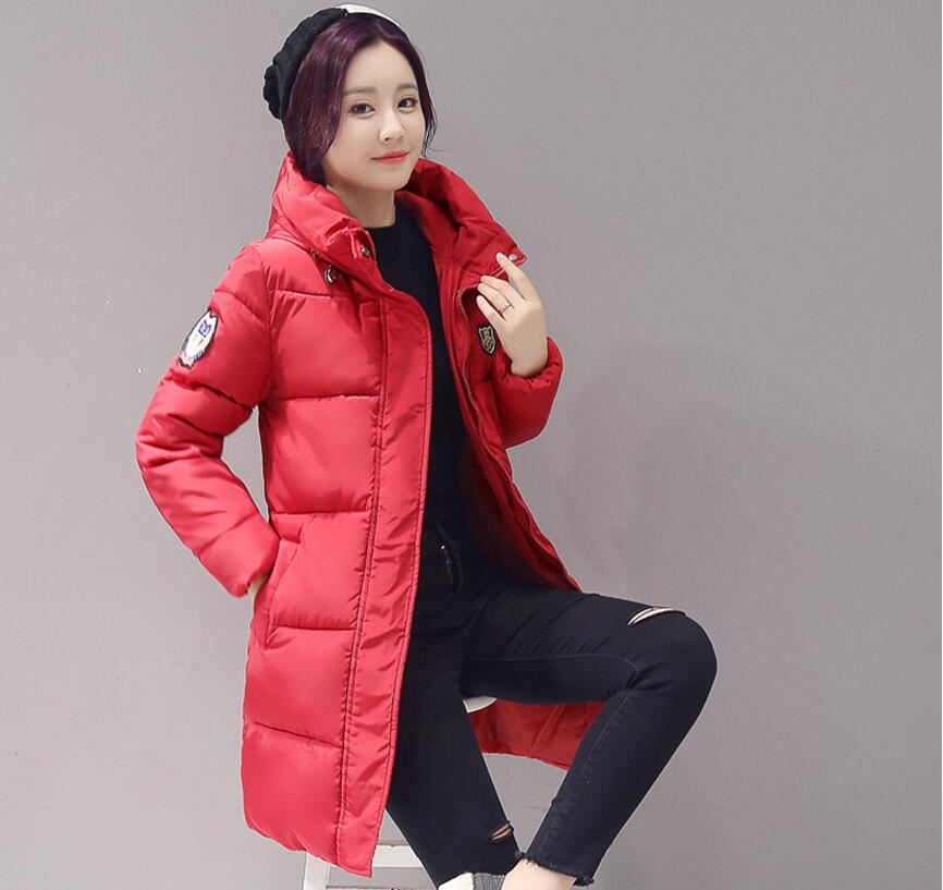 2017 Casual Warm coat Long Sleeve Ladies   Basic     Jacket   Coat feminina parkas Women Winter   Jackets   62145