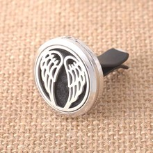 Glamorous angel wings pattern high quality stainless steel aromatherapy box car holder for auto parts wholesale +1 felt SC2032 angel wings pattern car stickers