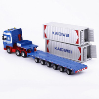 1:50 Scale Alloy Metal Truck Trailer Container Cargo Logistics Car Truck Diecast Model Engineering Auto Vehicle Toy Collections