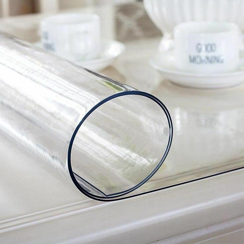 Nappe imperméable transparente en PVC couverture de Table pour la maison toile cirée de cuisine nappe en PVC verre souple pour la fête de mariage