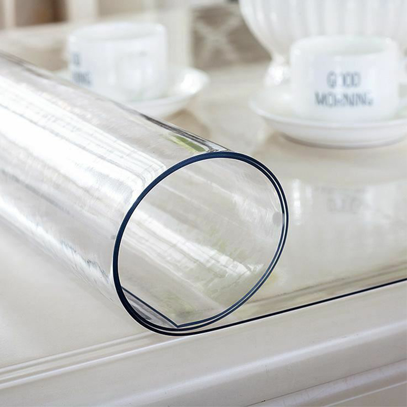 PVC Transparent Waterproof Tablecloth Home Table Cover Kitchen Oilcloth PVC Tablecloth Soft Glass for Wedding Party