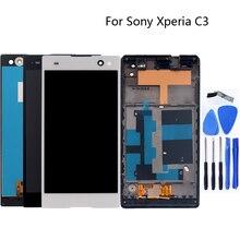 """5.5 """"สำหรับ Sony Xperia C3 d2533 d2502 กรอบจอแสดงผล LCD digitizer touch sensor assembly + จัดส่งฟรี"""