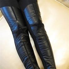 цена Girls Winter Pants Kids Plus Velvet Black Faux Leather Trousers Baby Girl Thick Leggings Children Clothes Toddler Baby Pants онлайн в 2017 году