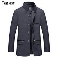 2014 New Arrival Men S Fashion Winter Single Breasted Suit Male Slim Fit New Collar Design