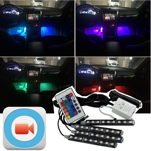 Tcart 1Set Auto Led Interior Lights Car LED RGB Neon Lamps RGB Strip For  Mercedes