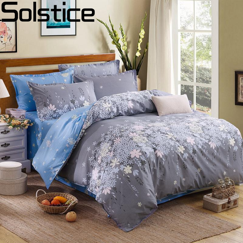 Solstice Mode Housse De Couette Ensemble Lit Draps De Coton Taie D'oreiller 4pcs Literie Ensemble De Literie Literie Twin Full Queen Super King 5