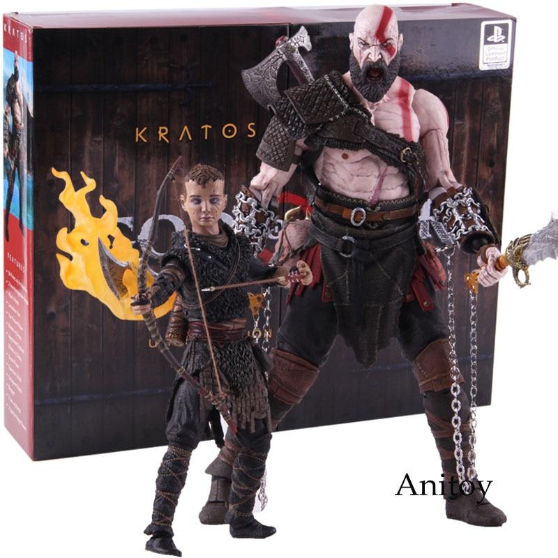Neca God Of War 4 Figure Kratos Atreus Ultimate Pvc God Of War Action Figure Collectible Model Toy 2 Pack