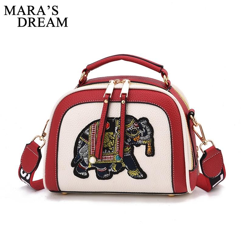 Witfox Leder Brieftasche Frauen 2019 Luxus Schafe Haut Echtem Leder Schulter Tasche Stickerei Elefanten Muster Damen Taschen Weibliche Gepäck & Taschen Kupplungen