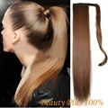 """24"""" Long Ponytail Clip In Pony Tail Hair Extension Extensions Wrap on Hair Piece Straight Style 100% Top Quality Free Shipping"""