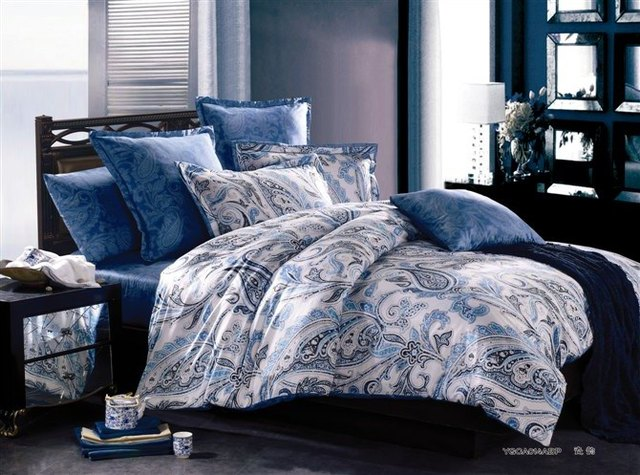 8ffb78aed49b Luxury paisley egyptian cotton satin comforter bedding sets king queen size  duvet cover bedspread sheets in