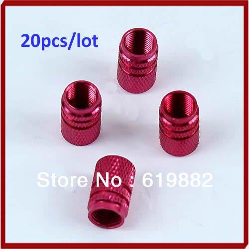 5sets(4pcs/set)/lot Auto Car Tire Tyre Wheel Parts Truck Hexagonal Ventil Valve Stems Cap Red