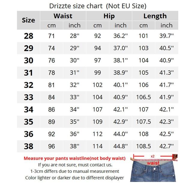 Drizzte Fashion Men's Jeans Stretch Blue Denim Men Slim Fit Jeans ...