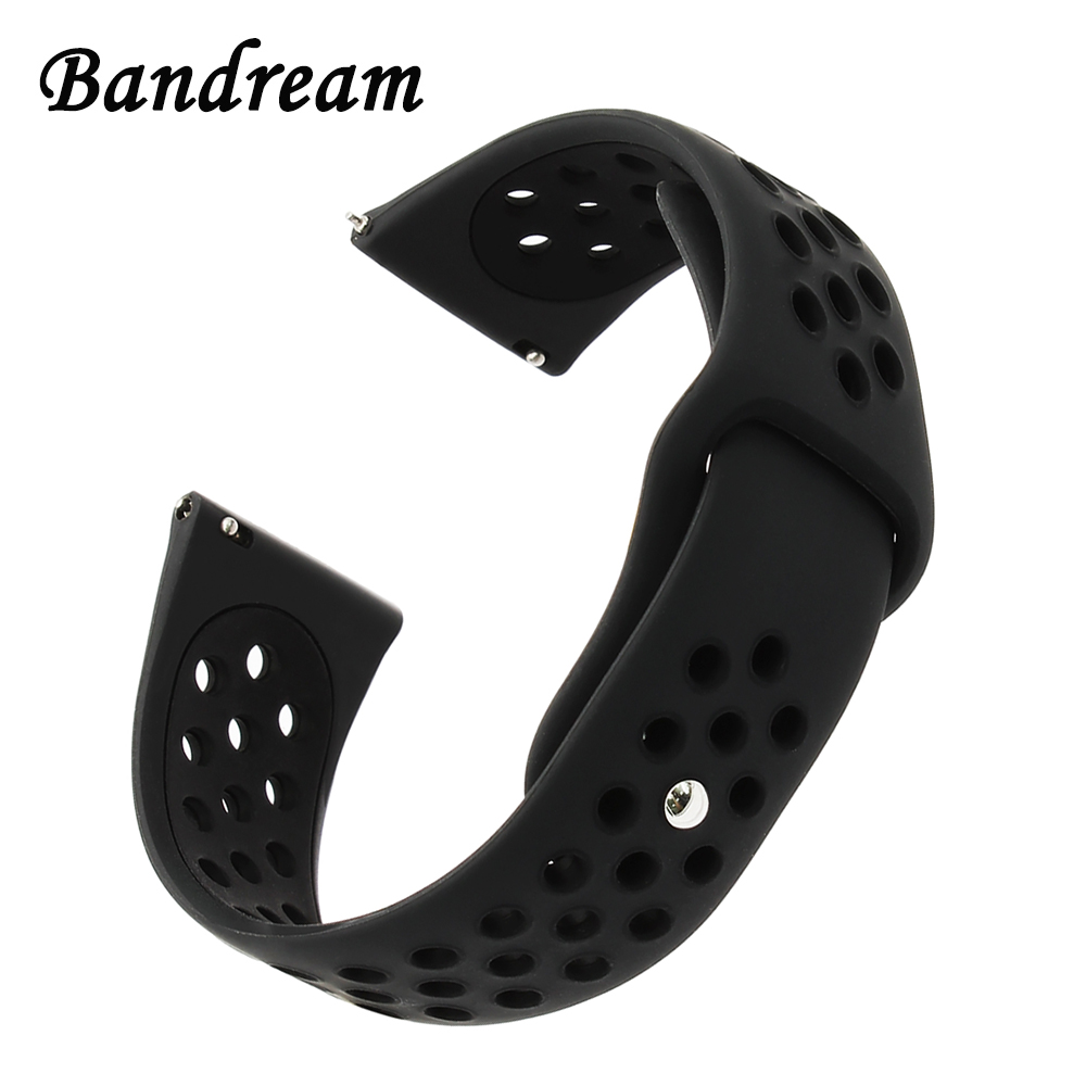 20mm 22mm Double Color Silicone Rubber Watchband for <font><b>Amazfit</b></font> 1 <font><b>2</b></font> 2S Stratos Xiaomi Huami Bip Pace Watch Band Quick Release Strap image