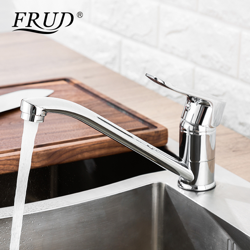 FRUD Kitchen Faucet  Cold and Hot Faucet Deck Mounted Water Mixer Tap Single Handle Torneira CozinhaFRUD Kitchen Faucet  Cold and Hot Faucet Deck Mounted Water Mixer Tap Single Handle Torneira Cozinha