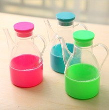 2pcs/lot candy color leakproof storage box spice jar potes de cozinha armazenamento oil bottle kitchen gravy boats LF 113