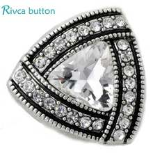 D02846 4colors High Quality crystal styles 18mm Metal Snaps Charm Rhinestone Styles rivca Snaps Jewelry(China)