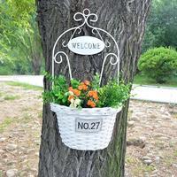 LanLan Wall Hanging Basket Plant Hanger Flower Holders For Indoor And Outdoor Garden Planters Decor Wedding