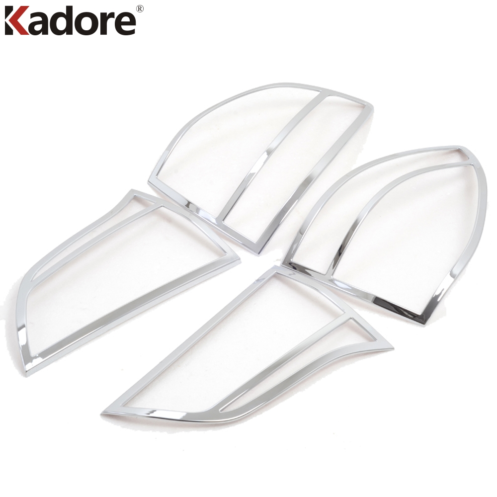 For Mitsubishi Pajero Montero Sport 2009 2010 2011 2012 2013 2014 4PCS Car Taillight Cover Trim Rear Back Light Lamp Hoods Frame car rear trunk security shield shade cargo cover for nissan qashqai 2008 2009 2010 2011 2012 2013 black beige
