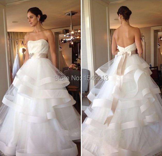 ed6b4362b Alta Costura Vestido De Noiva Strapless Frisada com Correia Do Vintage Plus  Size Vestido de Noiva