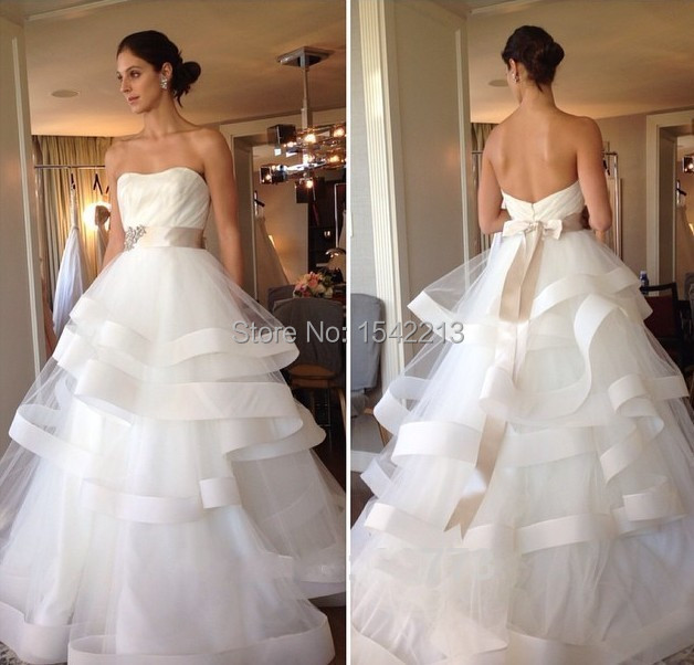 High Couture Wedding Dress Strapless Beaded with Belt Vintage Plus ...