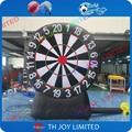 free shipping  2.5m height inflatable velcro soccer darts,inflatable foot darts for sale