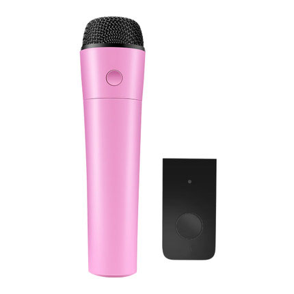 Pink Wireless Portable Magic Bluetooth Karaoke Microphone Wireless Professional Player Clear Sound Speaker Music Record lenovo original um10c portbale wired microphone karaoke microphone professional concert live wireless microphone for smartphone