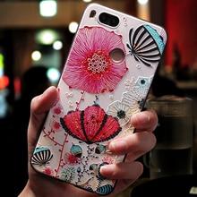 Cyato 3d coque,cover,case For Xiaomi xiomi mi a1 a 1 = 5x Original luxury phone back cute etui glitter on cases