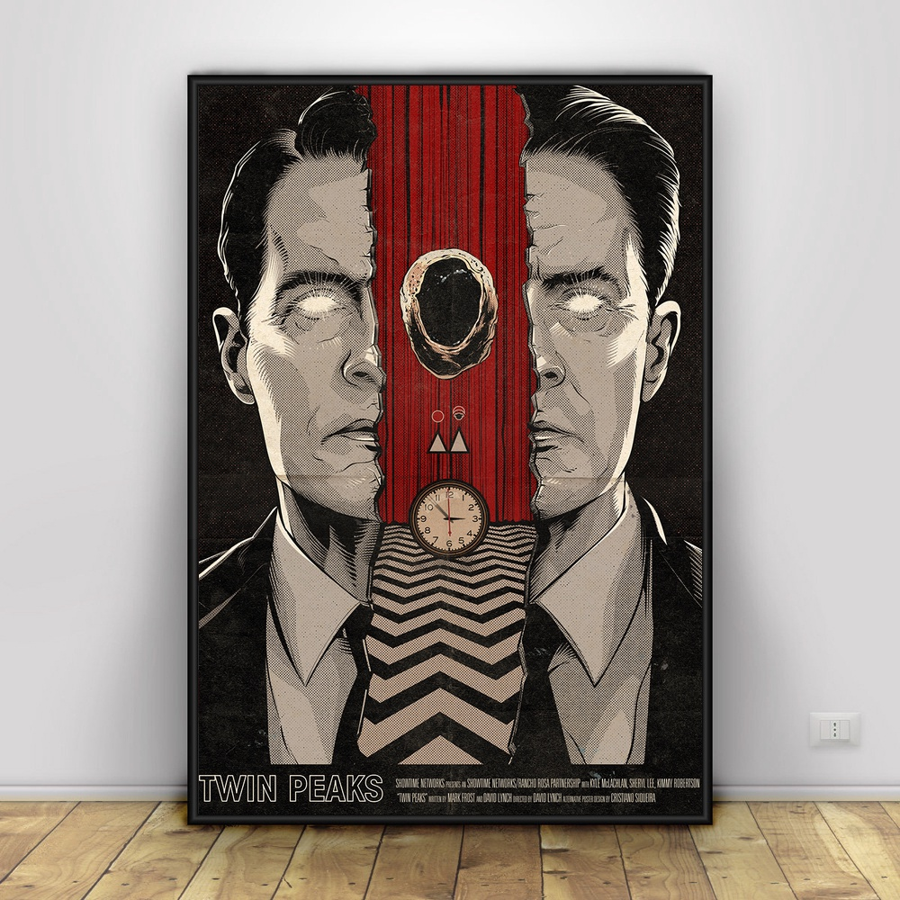 Twin Peaks Art Silk Poster Home Decor 12x18 24x36inch