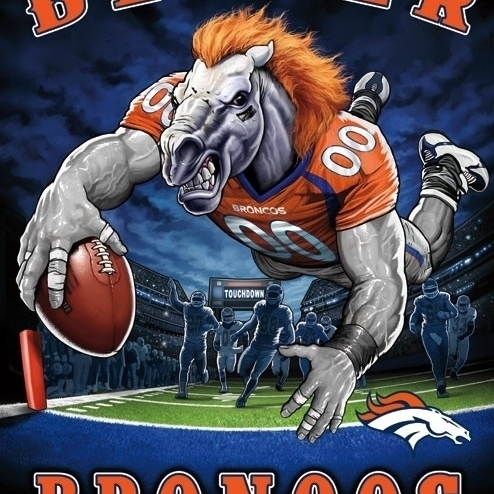 Denver Broncos – End Zone Laminated Poster Print (22 x 34)