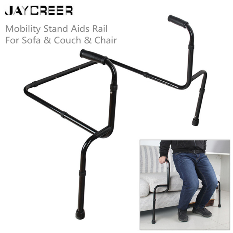 JayCreer Stand Assist Handles + Adjustable Standing Mobility Aid For Couch Chair & Sofa & Living Room Grab Bar