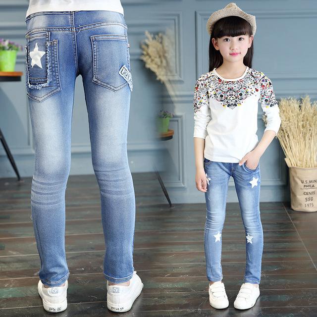 2016 Novo Estilo do bebê jeans menina Filhos Adoráveis Calças trouses crianças roupas Casuais Calças Jeans coreano w0148