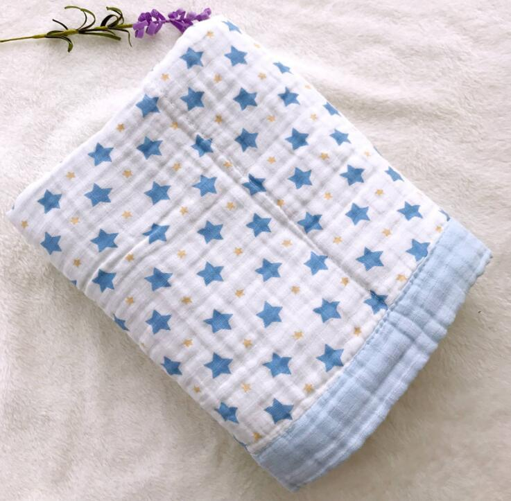 6 Layers Baby Blanket For Newborns Bamboo Fiber Cotton Muslin Swaddle For Infant Baby Bedding Sheet Play Mat For Kids Bath Towel