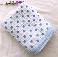 6 Layers Baby Blanket For Newborns Bamboo Fiber Cotton Muslin Swaddle For Infant Baby Bedding Sheet