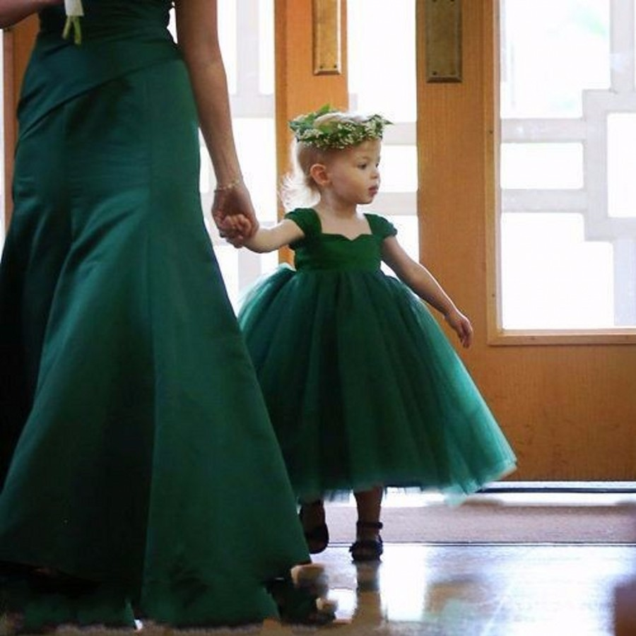 Cute dark green kid pageant dresses for little girls ball flower cute dark green kid pageant dresses for little girls ball flower girl dresses mother and daughter dresses in flower girl dresses from weddings events on izmirmasajfo Images