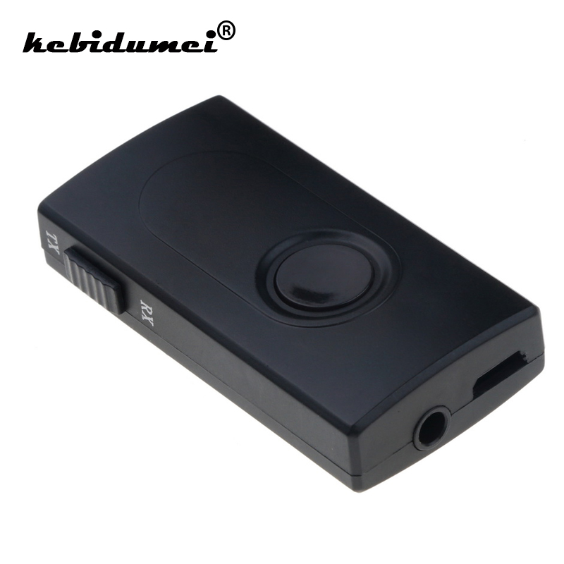 Kebidu 2 In 1 Wireless Bluetooth V4.2 Sender Empfänger A2dp 3,5mm Adapter Stereo Audio Dongle Für Tv Auto/ Hause Lautsprecher Mp3