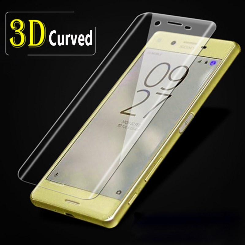 new style 60a38 06b37 US $5.16 20% OFF 3D Curve Full Cover For Sony Xperia X XA XP XZ F8332 X  Compact XA Ultra Screen Protector Tempered Glass Protective Film-in Fitted  ...