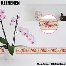 KLG-011 Self-adhesive Wallpaper Decor Wall Sticker Waistline Stickers PVC  Waist Line Bathroom kitchen Tile wallpaper