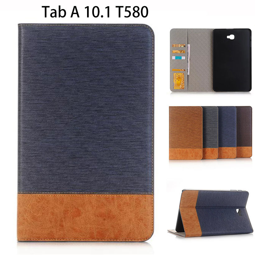 Flip PU Leather Case For Samsung Galaxy Tab A A6 10.1 2016 T580 T585 SM-T580 T580N Cases Cover Funda Tablet business Shell Skin аксессуар чехол samsung galaxy tab a 7 sm t285 sm t280 it baggage мультистенд black itssgta74 1