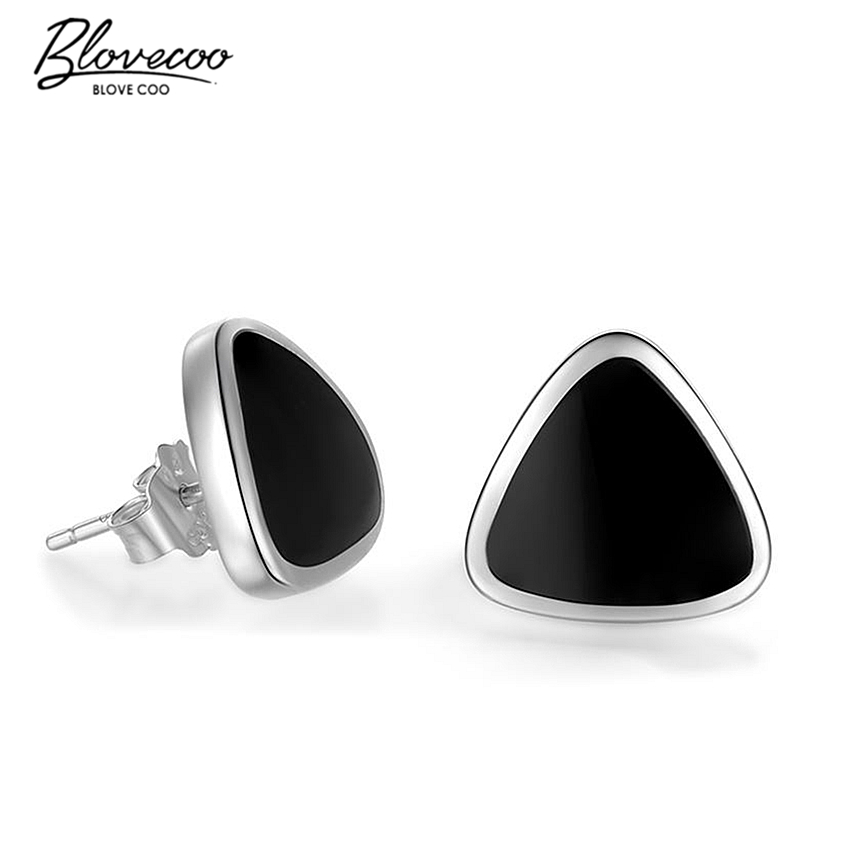 df9709da0026 Joyería de plata del oído Corea modelos femeninos de moda epoxi cristal  triángulo Pendientes fabricantes al por mayor