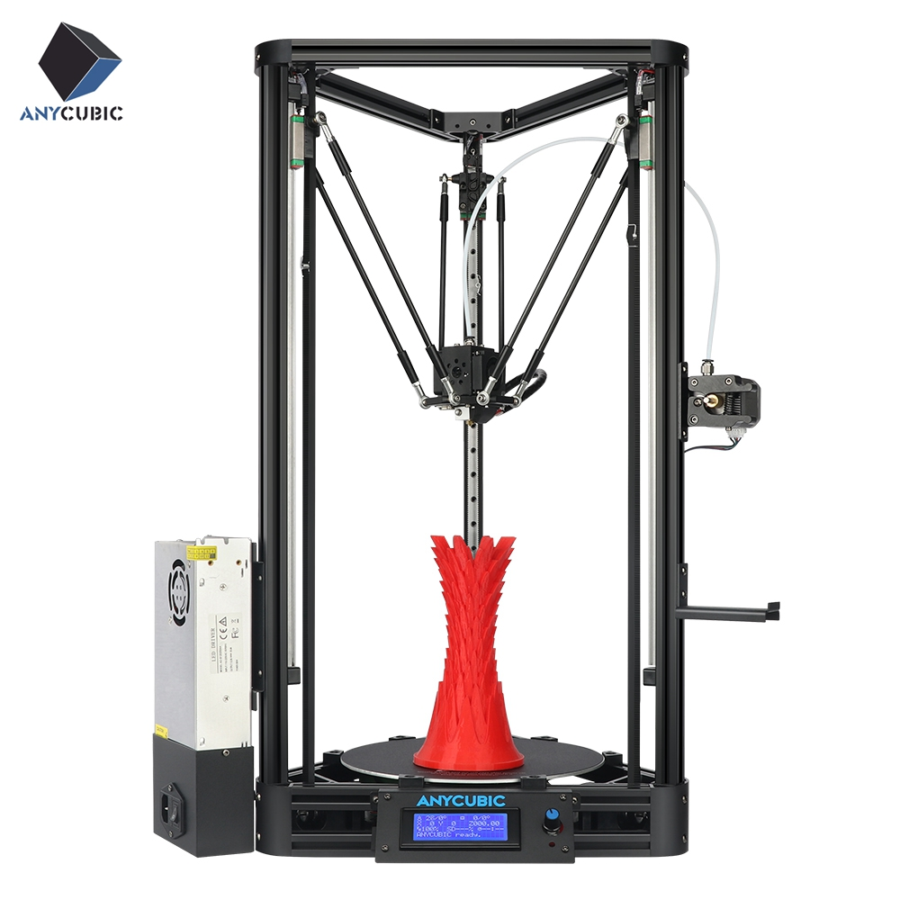 ANYCUBIC Kossel 3D Printer Impresora 3D Auto level Platform Pulley Linear Guide Plus Large Printing Size